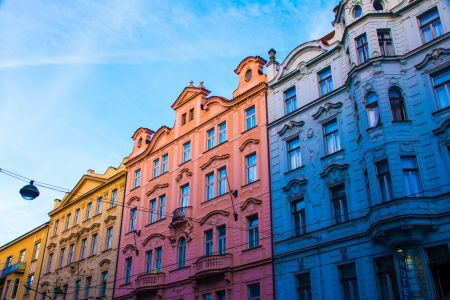 Amazing colored buildings