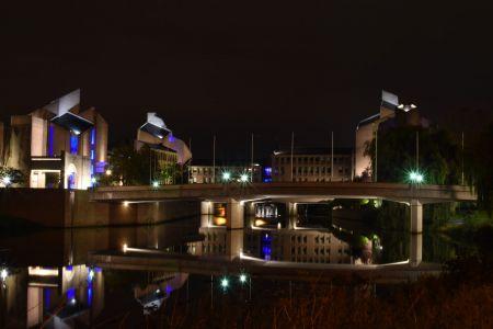 Maastricht by night - gemeentehuis voorkant