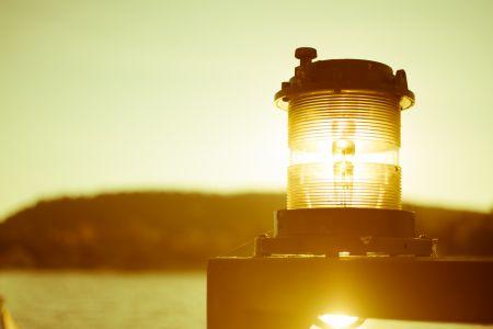 Lighthouse light catching light